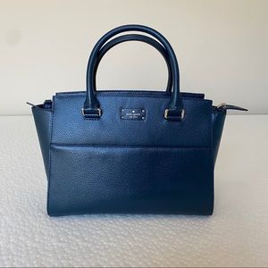 NWOT Kate Spade Jeanne Small Satchel Petrol Blue
